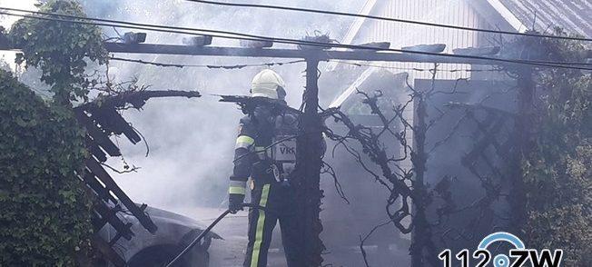 Auto in brand in Zwagerbosch